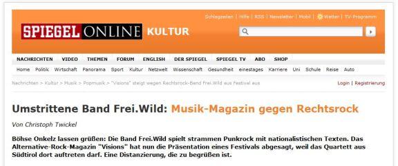 Spiegel - Kultur FREIWILD Feb 2013
